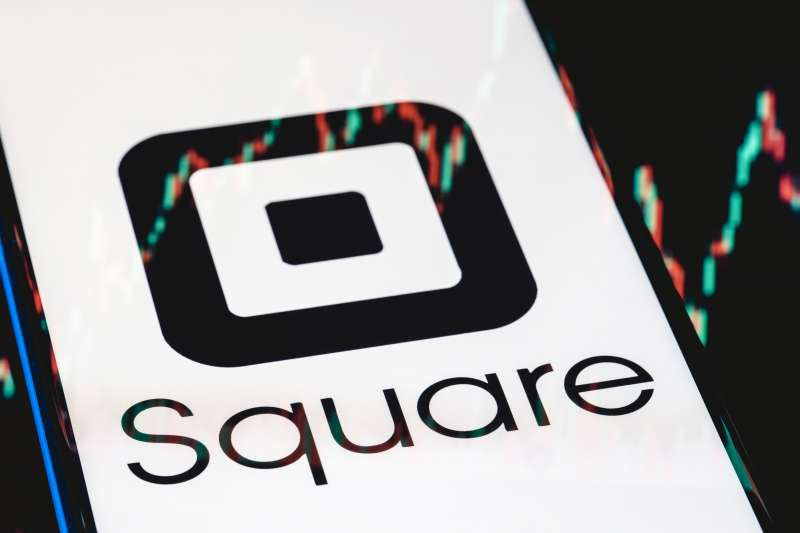 Close up of the Square logo on a smartphone