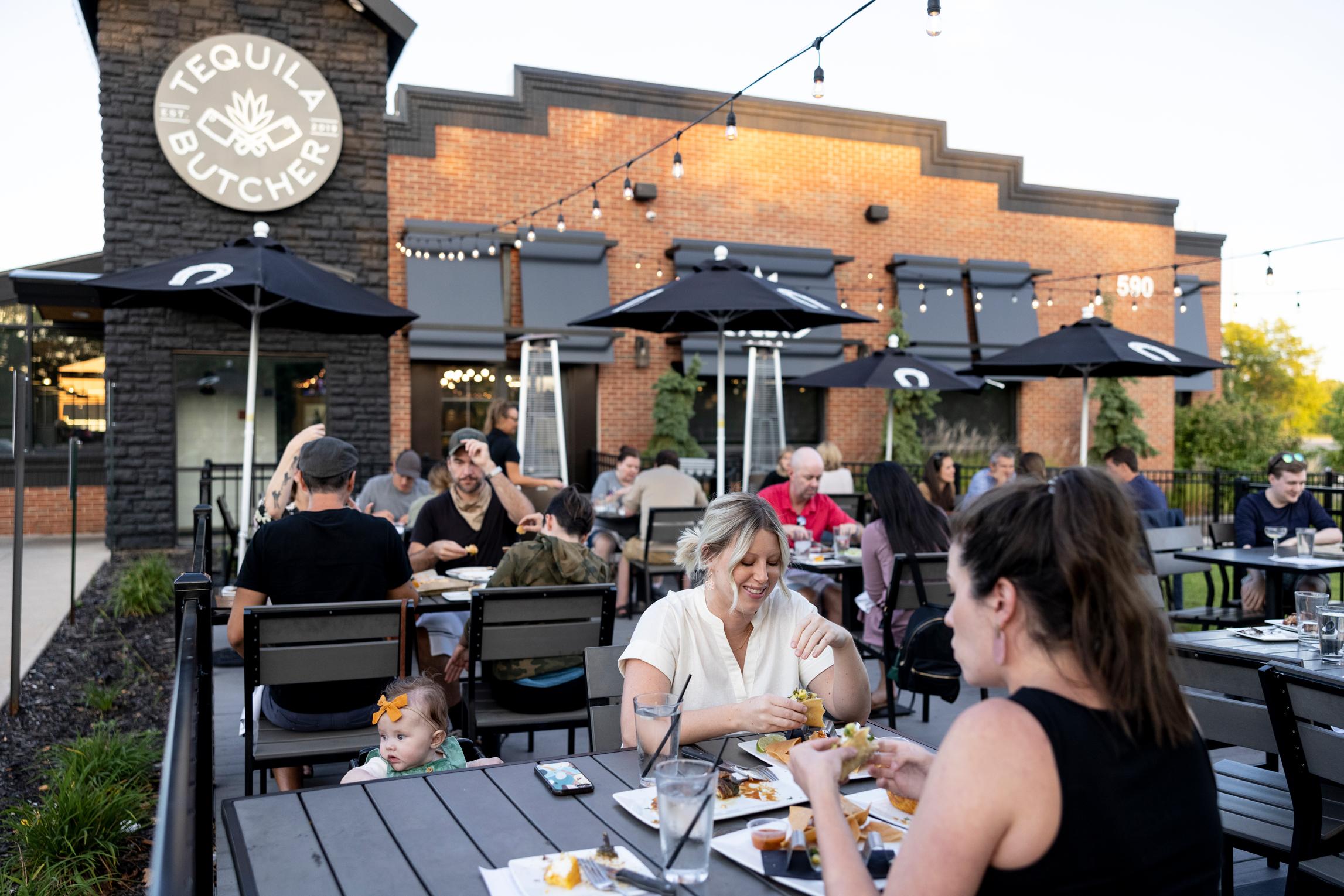People eating at Tequila Butcher Restaurant in Chanhassen Minnesota