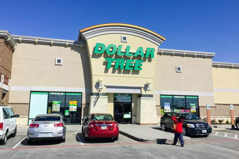 Customer enters a Dollar Tree store