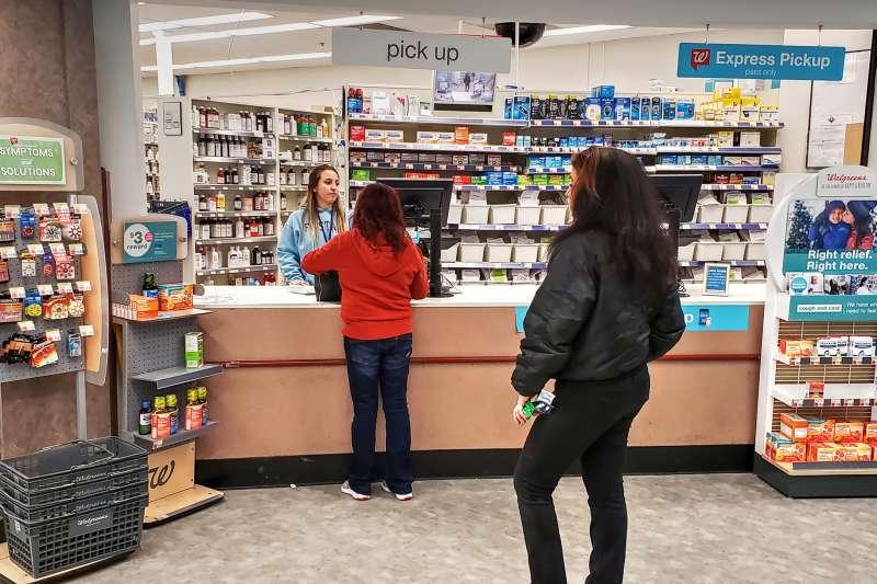 Walgreen's Pharmacy prescription medicine drug counter pickup