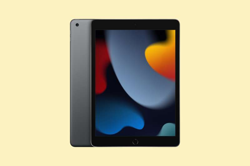 Apple 10.2-inch iPad (2021) Wi-Fi 64GB on a colored background