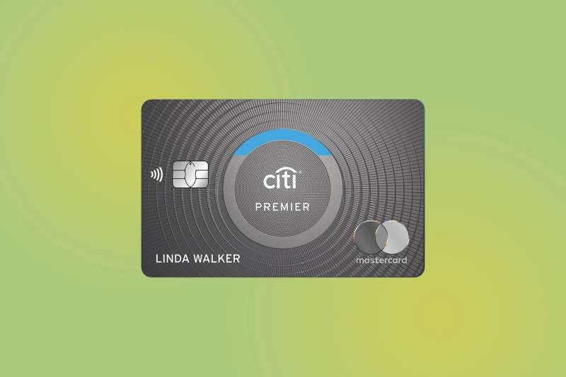 Citi Premier Credit Card on a colored background